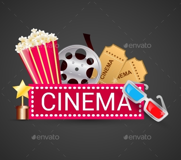 GraphicRiver Cinema Icons Concept 8974767