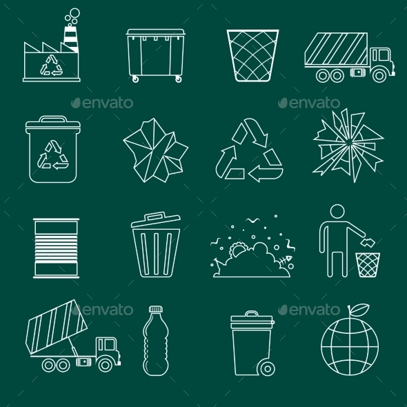 GraphicRiver Garbage Icons Outline 8974788