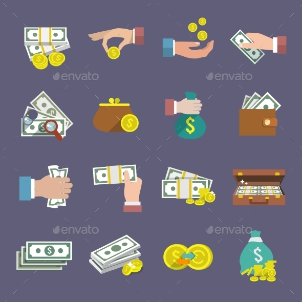 GraphicRiver Money Icon Flat 8975038