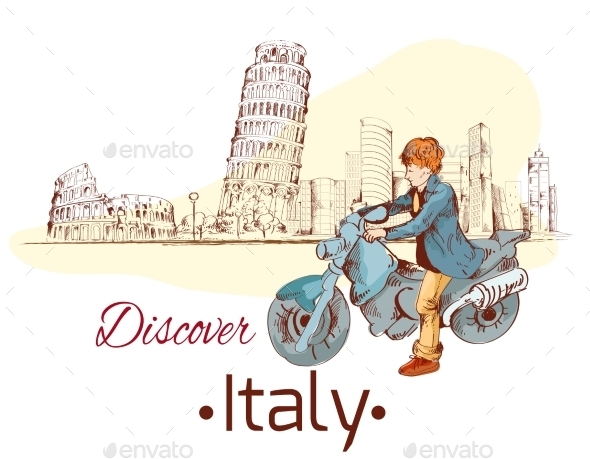 GraphicRiver Discover Italy Poster 8975057