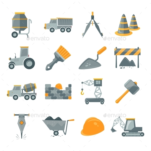 GraphicRiver Construction Icons Set 8975087