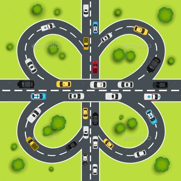 GraphicRiver Highway Traffic Illustration 8975088
