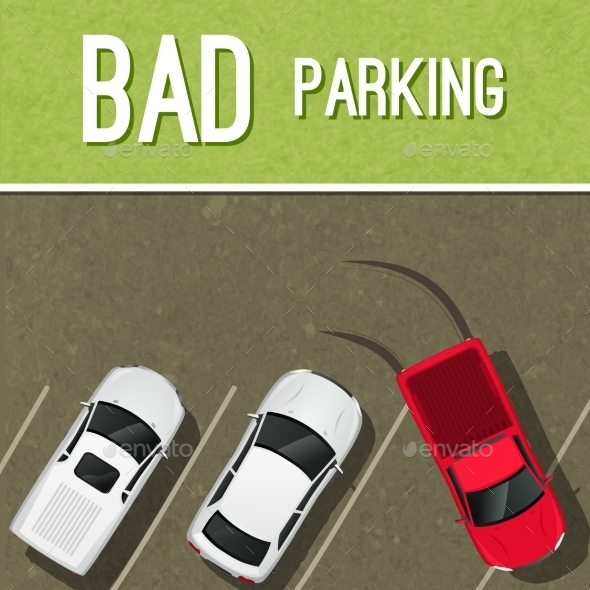 GraphicRiver Parking Scene Poster 8975089