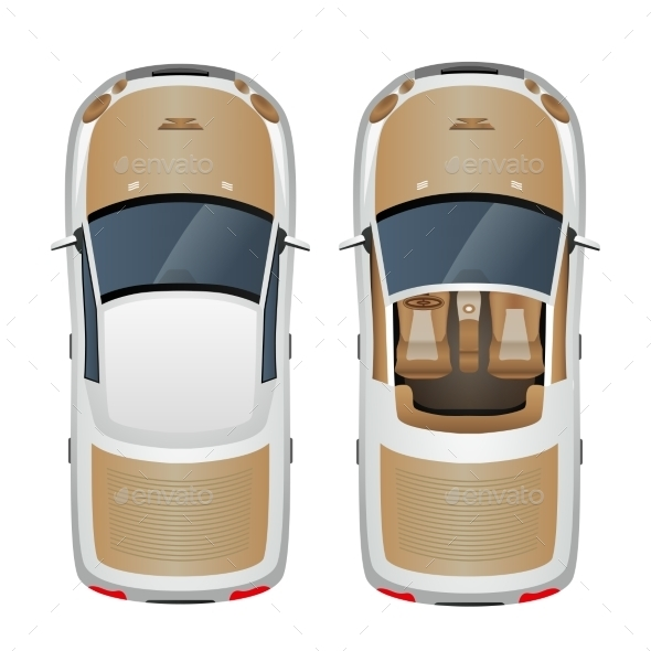 GraphicRiver Car Top View 8975091