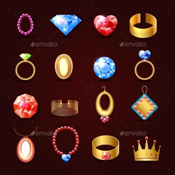 GraphicRiver Jewelry Icon Set 8975096