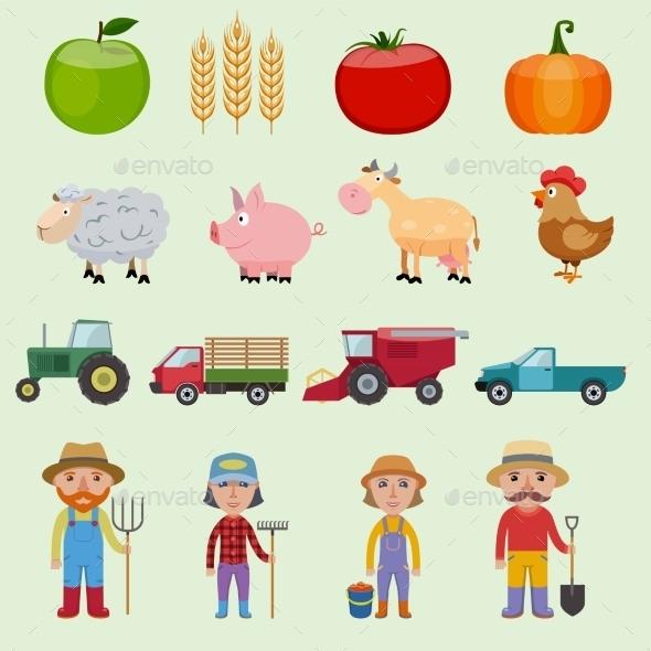 GraphicRiver Farm Icons Set 8975099