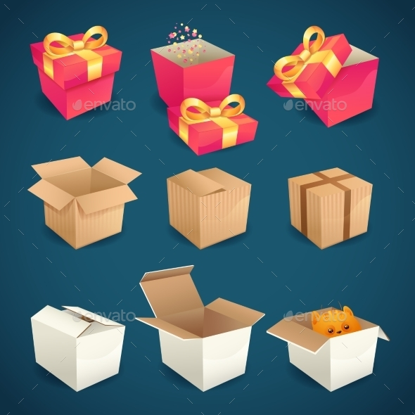 GraphicRiver Box and Package Icons 8975106