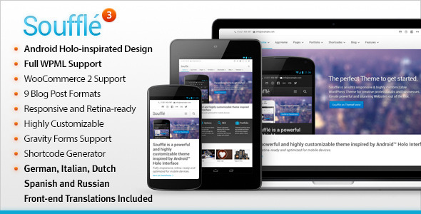 Souffle Responsive Retina Multi-Purpose Theme