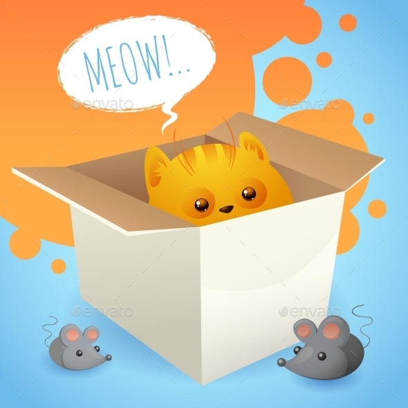 GraphicRiver Kitten in Box 8975128