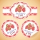 Strawberry Jam Labels - GraphicRiver Item for Sale