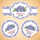 Blueberry Jam Labels - GraphicRiver Item for Sale