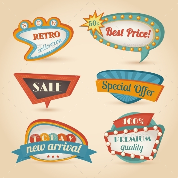 GraphicRiver Retro Speech Bubble 8975166
