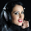 Attractive Girl With Headset - PhotoDune Item for Sale