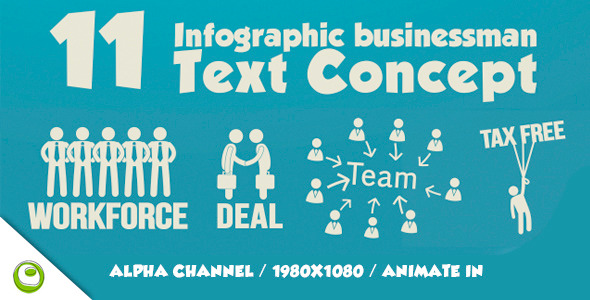 11 Infographic Businessman Text Concept