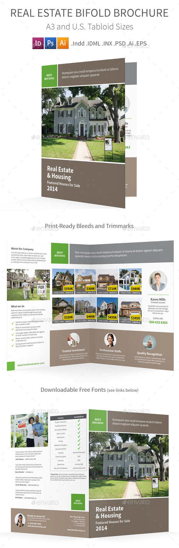 GraphicRiver Real Estate Bifold Halffold Brochure 8975288