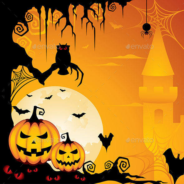 GraphicRiver Halloween Background 8975299