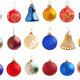 Set of Christmas balls isolated on a white background - PhotoDune Item for Sale
