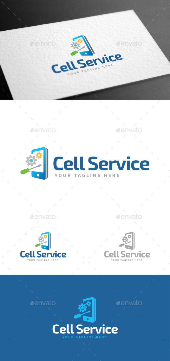 GraphicRiver Cell Service Logo Template 8975480