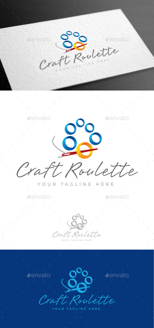 GraphicRiver Craft Roulette Logo Template 8975484
