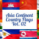 Asia Continent Country Flags Vol. 2 - VideoHive Item for Sale