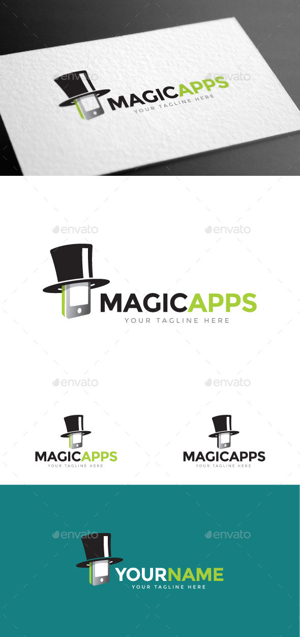 GraphicRiver Magic Apps Logo Template 8975536