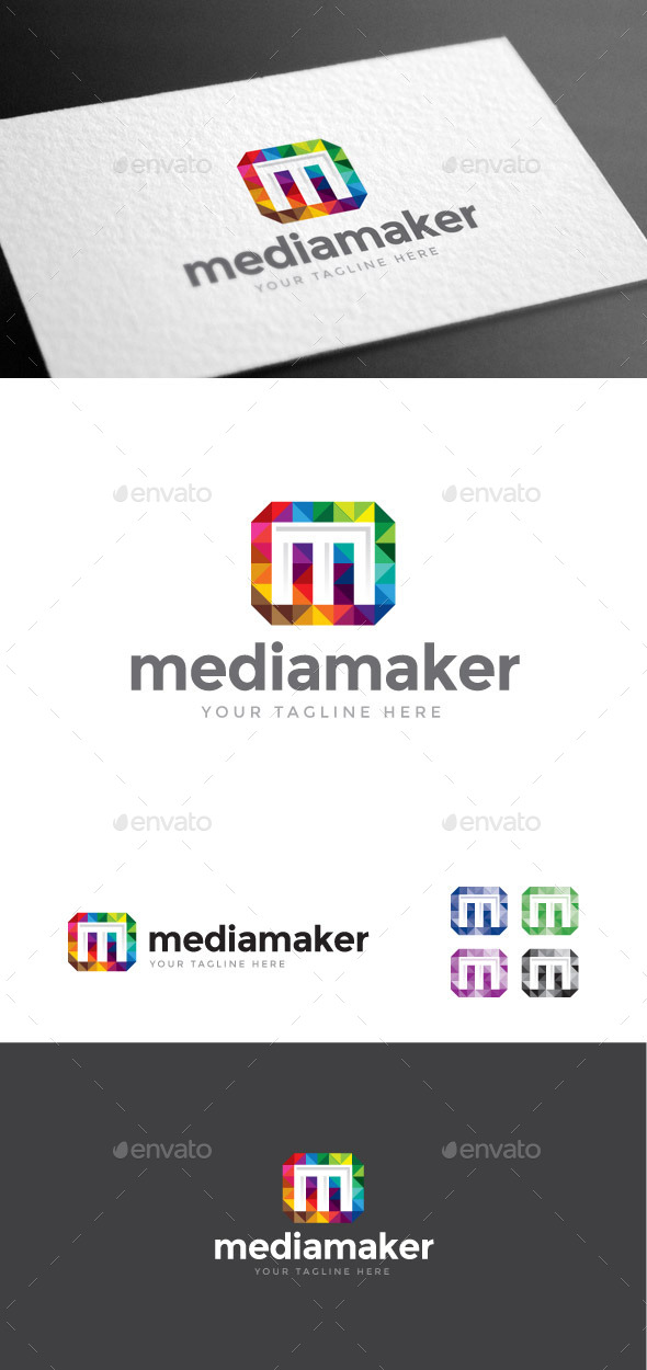 GraphicRiver Mediamaker Letter M Logo Template 8975538