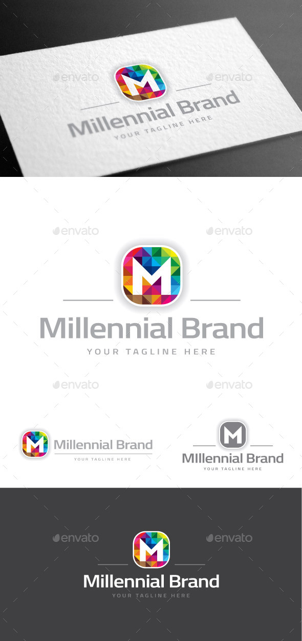 GraphicRiver Millennial Brand Letter M Logo Template 8975540