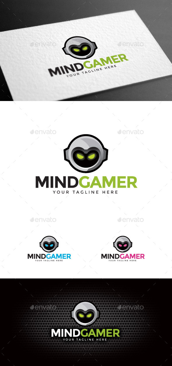GraphicRiver Mind Gamer Logo Template 8975542