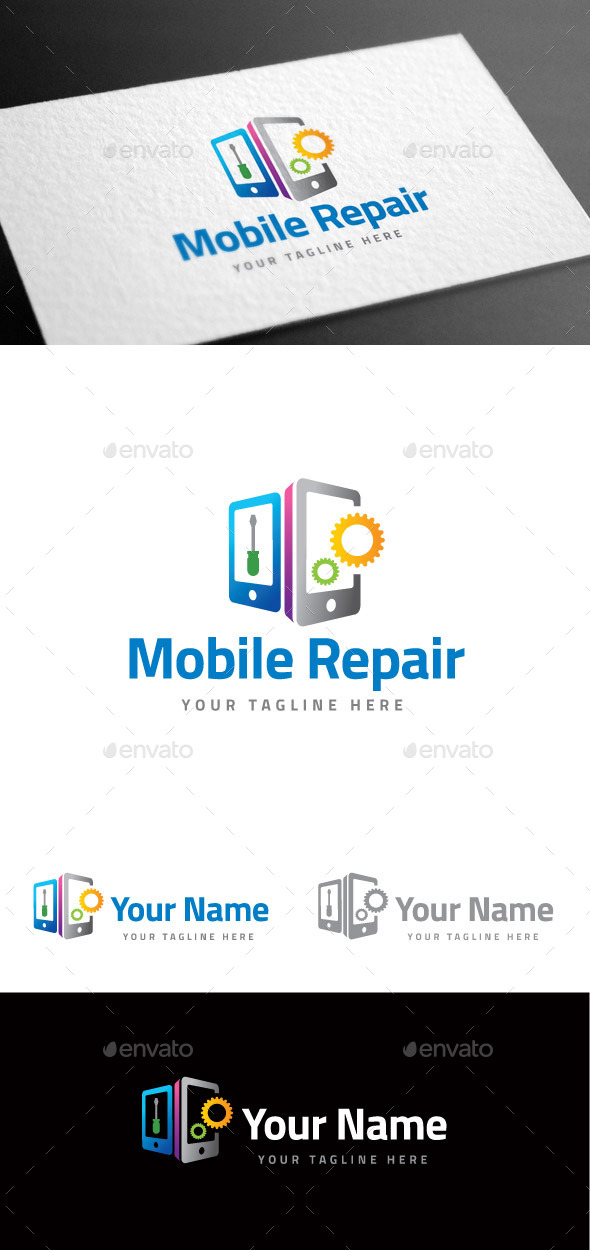 GraphicRiver Mobile Repair Logo Template 8975545