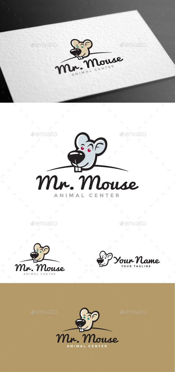 GraphicRiver Mr Mouse Logo Template 8975548