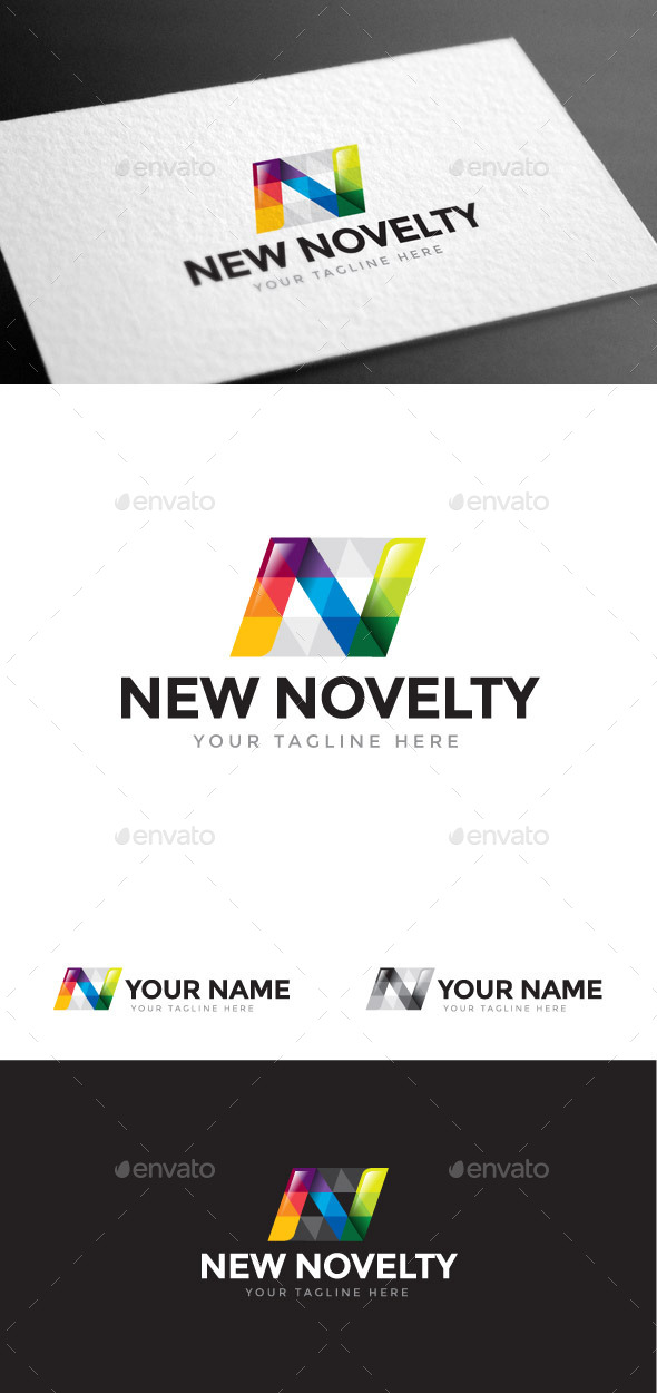 GraphicRiver New Novelty Letter N Logo Template 8975551