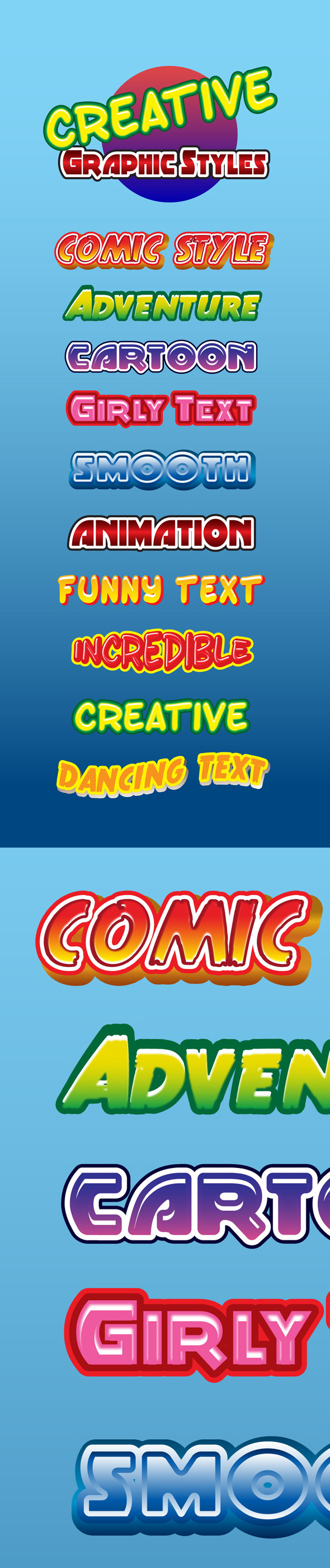 GraphicRiver Creative Graphic Styles for Ai 8975556