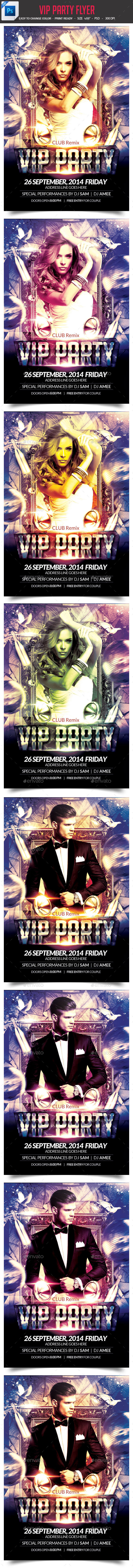 GraphicRiver VIP Party Flyer 8975614