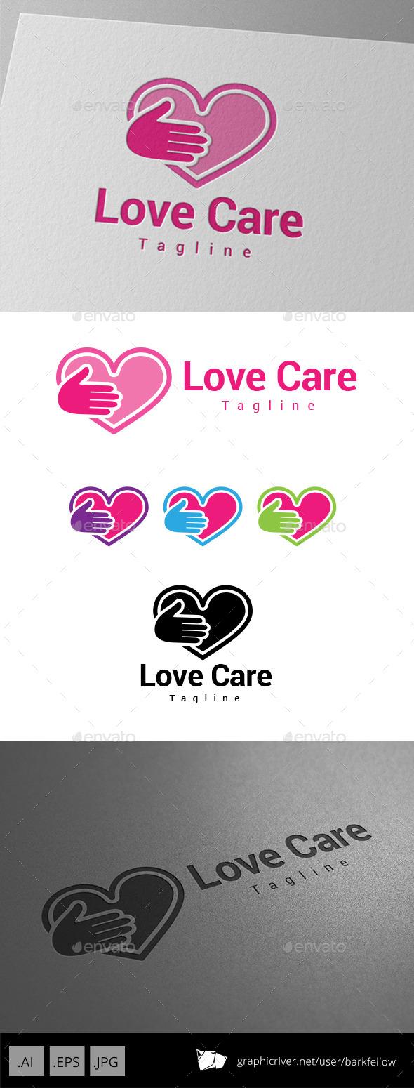 GraphicRiver Love Care Logo 8975617