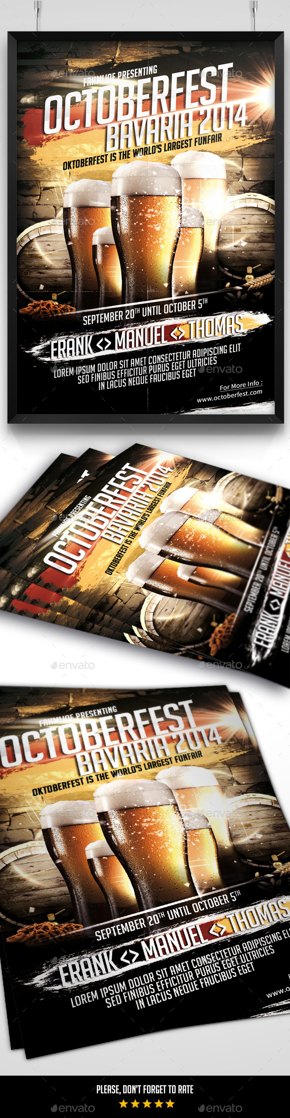 GraphicRiver Oktoberfest 2014 Flyer 8975892