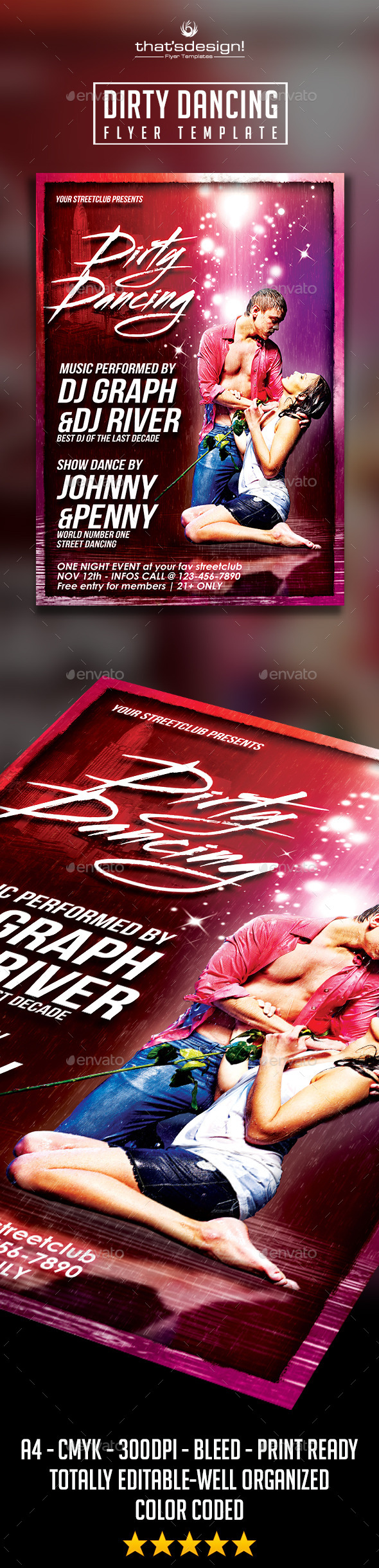 Dirty Dancing Streetclub Flyer Template - Clubs & Parties Events