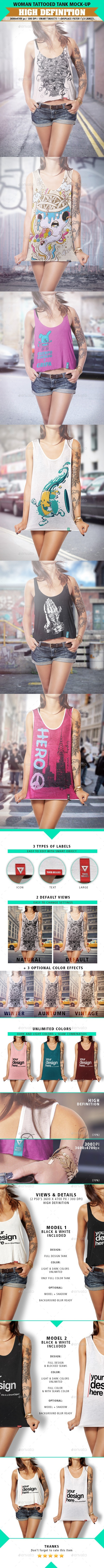 GraphicRiver Tank Mock-Up Tattooed Woman 8975952