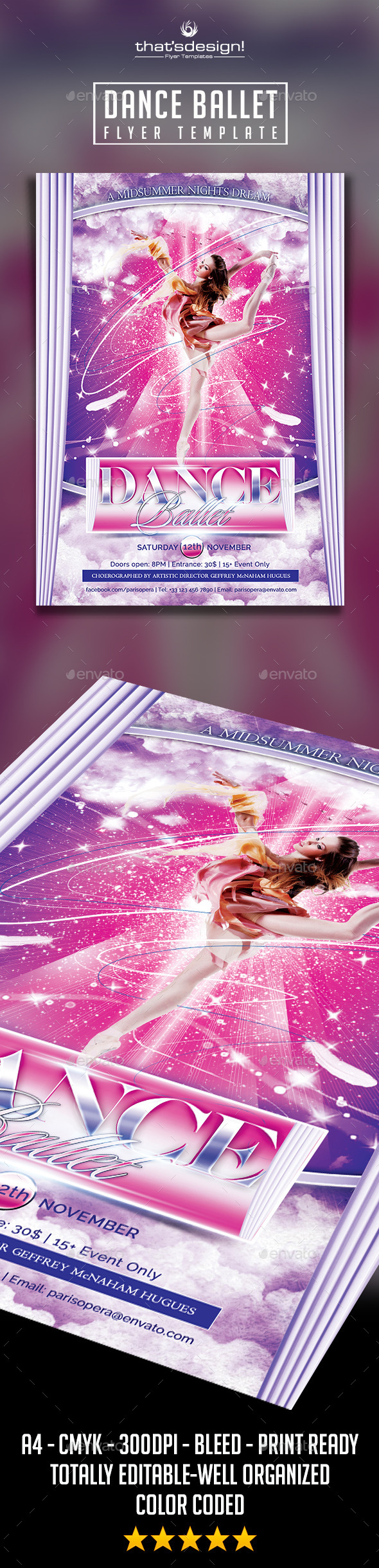 Dance Ballet Flyer - Concerts Events