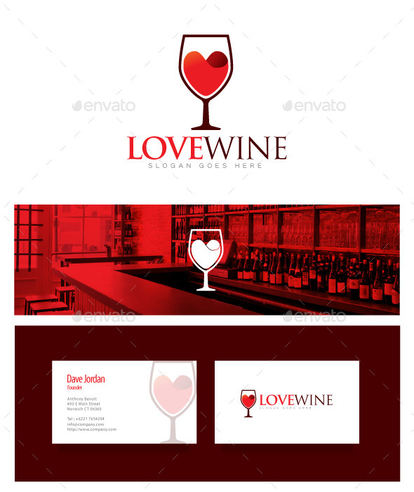 GraphicRiver Love Wine Wine Logo 8976008