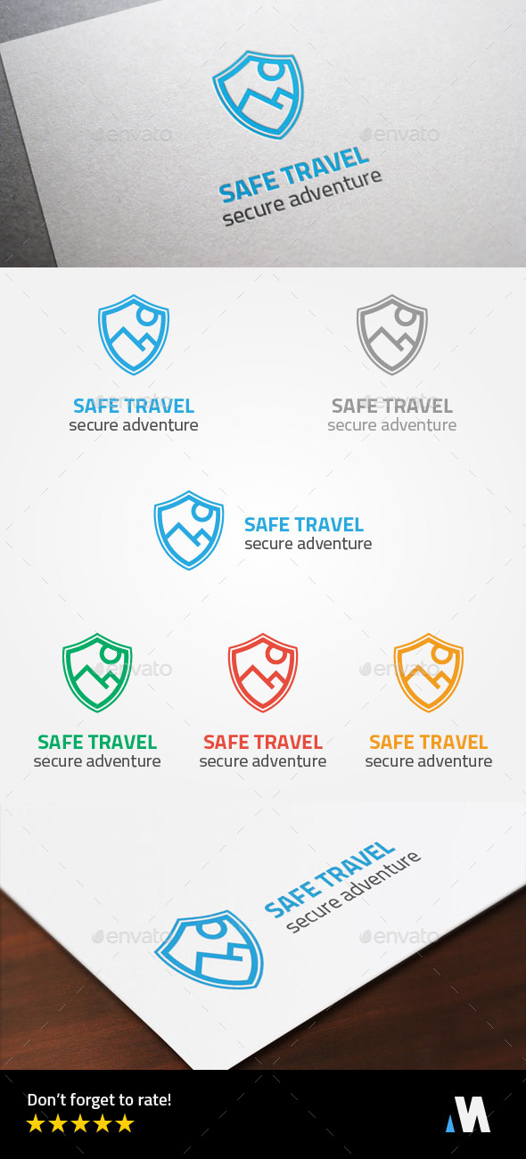 GraphicRiver Secure Adventure or Safe Travel Logo Template 8976029