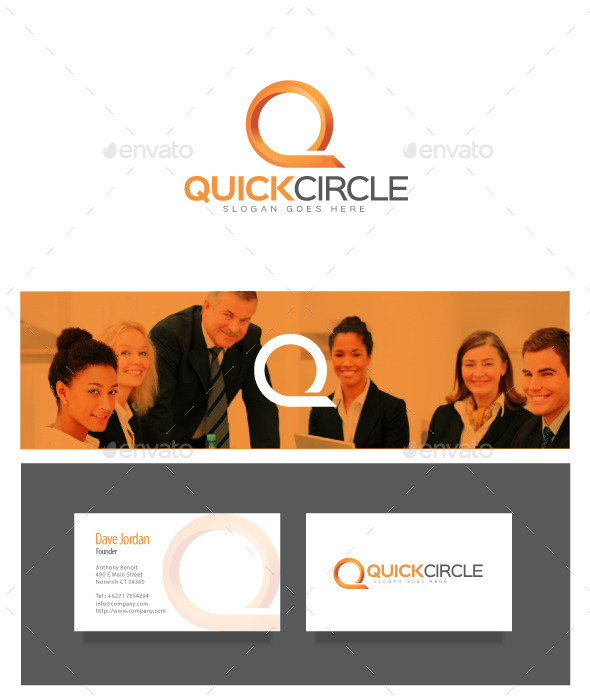 GraphicRiver Quick Circle Letter Q Logo 8976056