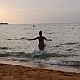 Woman Running and Jumping into the Sea  - VideoHive Item for Sale