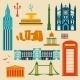Landmarks of United Kingdom - GraphicRiver Item for Sale