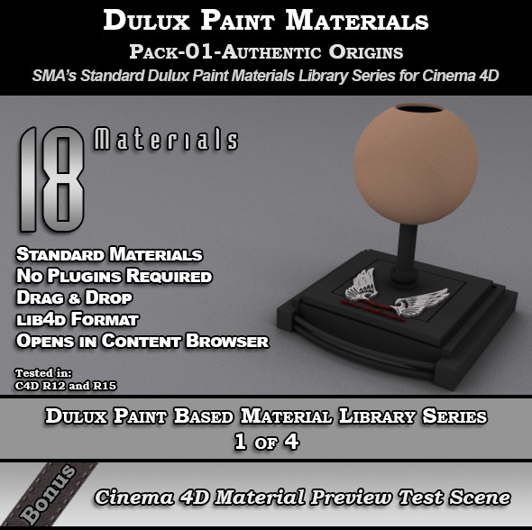 Dulux Paints Series Pack-01-AuthenticOrigins [C4D] - 3DOcean Item for Sale