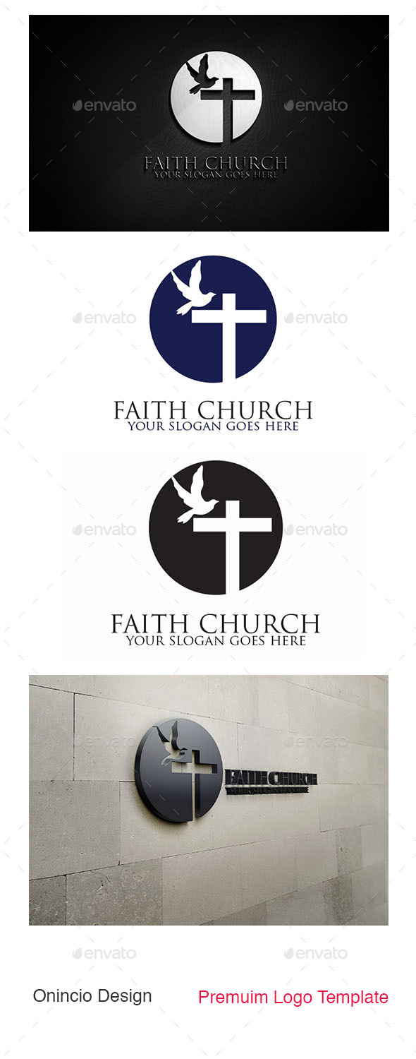 GraphicRiver Faith Church Logo 8976246