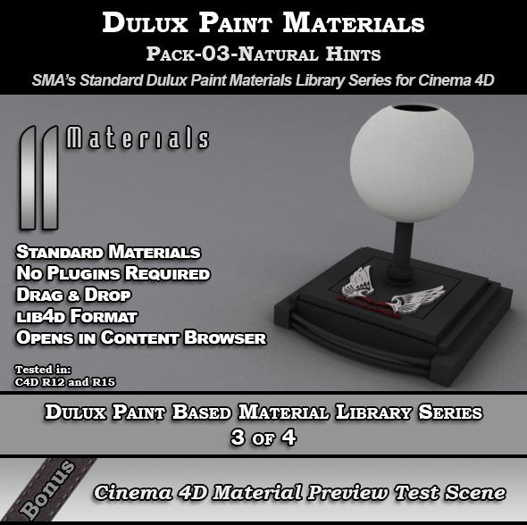 3DOcean Dulux Paints Series Pack-03-Natural Hints [C4D] 8976250