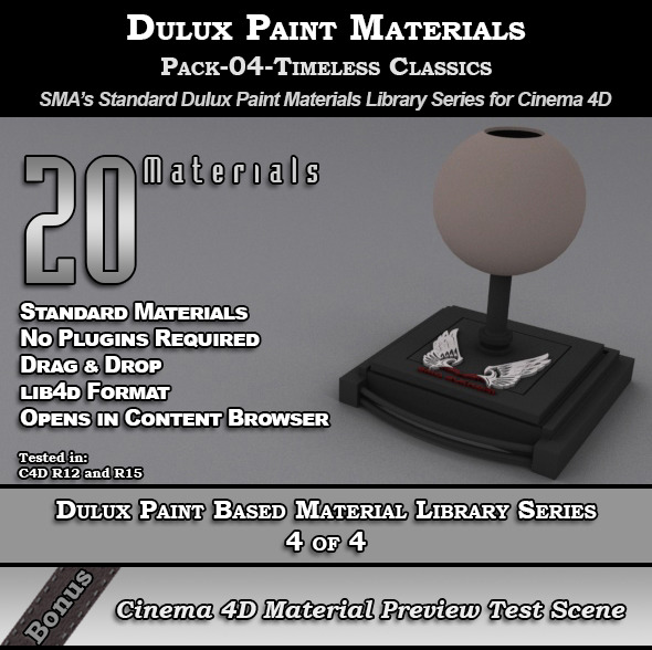 Dulux Paints Series Pack-04-TimelessClassics [C4D] - 3DOcean Item for Sale