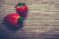 Fresh Strawberries On A Wooden Table - PhotoDune Item for Sale