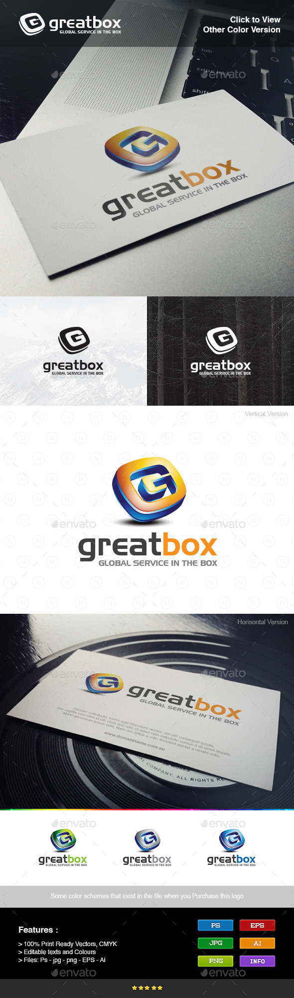 GraphicRiver 3D Box Letter G 8976583
