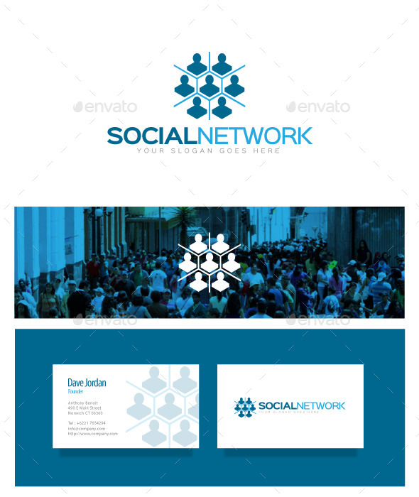 GraphicRiver Social Network Logo 8976728